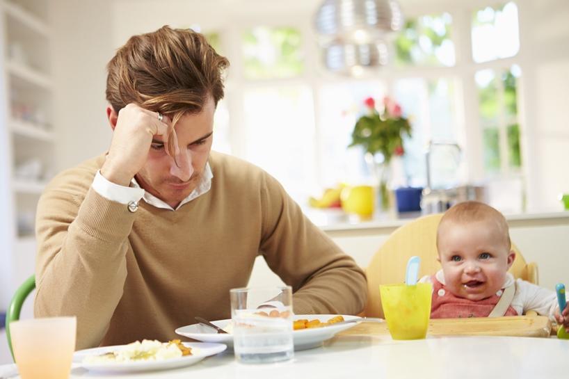 דיכאון אחרי לידה אצל אבות